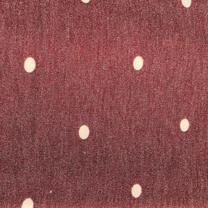 "52"" French Terry Cotton Blend Polka Dot Burgundy Red & Charcoal Gray Apparel Knit Fabric By the Yard - APC Fabrics"