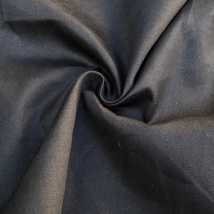 "60"" 100% Cotton Twill 6 OZ Black Apparel & Face Mask Woven Fabric By the Yard - APC Fabrics"