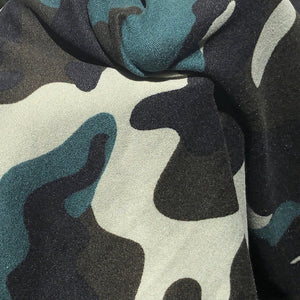 "60"" 100% Polyester 6 OZ Green Camoflauge Camouflage Camo Print Face Mask Woven Fabric By the Yard - APC Fabrics"