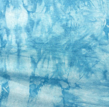 "Load image into Gallery viewer, 60"" Bamboo Spandex Lycra Stretch Tie Dyed Sky Blue & White Cloud Apparel Knit Fabric By the Yard - APC Fabrics"