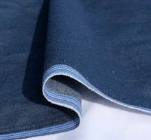 "Load image into Gallery viewer, 58"" 100% Cotton Pima Chambray Denim 6 OZ Dark Blue Apparel Woven Fabric By the Yard - APC Fabrics"