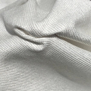 "60"" 100% Cotton Baby Chenille 6.5 OZ White Apparel Woven Fabric By the Yard - APC Fabrics"