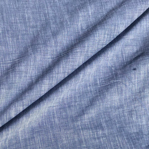"60"" Linen & Cotton Chambray USA Made Light Blue Two Toned Cross Dye 5 OZ Apparel and Face Mask Woven Fabric By the Yard"