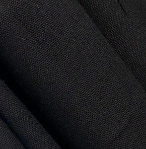 "60"" 100% Cotton Canvas 7 OZ Pitch Black Apparel and Face Mask Woven Fabric By the Yard"