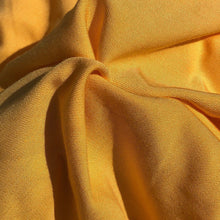 "Load image into Gallery viewer, 60"" Butter Yellow 100% Lyocell Tencel Gabardine Twill Eco Friendly Medium Weight Apparel Woven Fabric By The Yard"