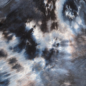 "60"" Modal & Spandex Stretch Tie Dyed Tie Dye Black White Blue Cloud Apparel and Face Mask Jersey Knit Fabric By the Yard"