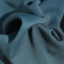 "Load image into Gallery viewer, 60"" Marine Teal Blue 100% Tencel Lyocell Gabardine Twill Eco Friendly Medium Weight Apparel Woven Fabric By The Yard"