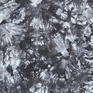 "60"" Bamboo & Spandex Stretch Tie Dyed Tie Dye Black Gray Apparel and Face Mask Jersey Knit Fabric By the Yard"