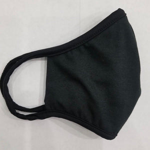 Black USA Made Face Mask & Face Wear Jersey Knit Spandex