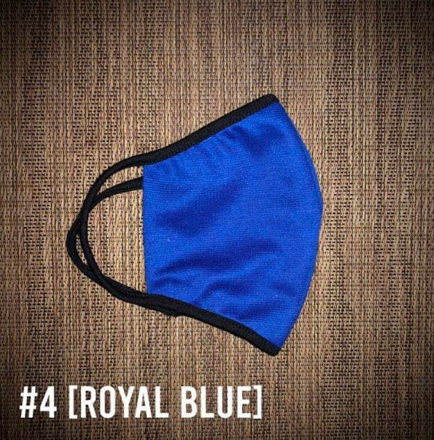 Royal Ocean Blue USA Made Face Mask & Face Wear Jersey Knit Spandex