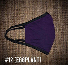 Load image into Gallery viewer, Eggplant Purple USA Made Face Mask & Face Wear Jersey Knit Spandex