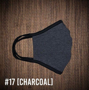Charcoal Gray USA Made Face Mask & Face Wear Jersey Knit Spandex