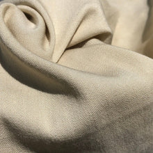 "Load image into Gallery viewer, 58"" Merino Tencel Lyocell Wool Double Faced Jacquard Ivory Beige Apparel Woven Fabric By the Yard"