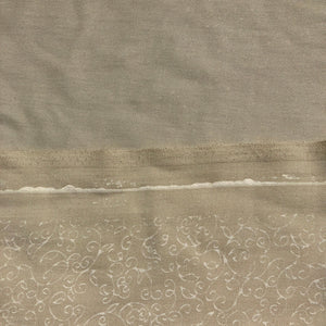 "58"" Merino Tencel Lyocell Wool Double Faced Jacquard Ivory Beige Apparel Woven Fabric By the Yard"