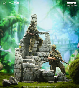 Twelve World 1/12 - Castle Ruins Diorama Base