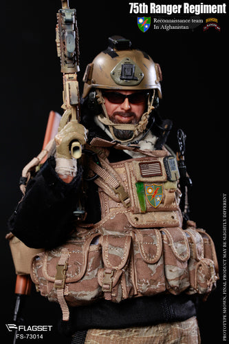 Flagset 1/6 - US 75th Ranger Regiment Afghanistan Revenge Team Member