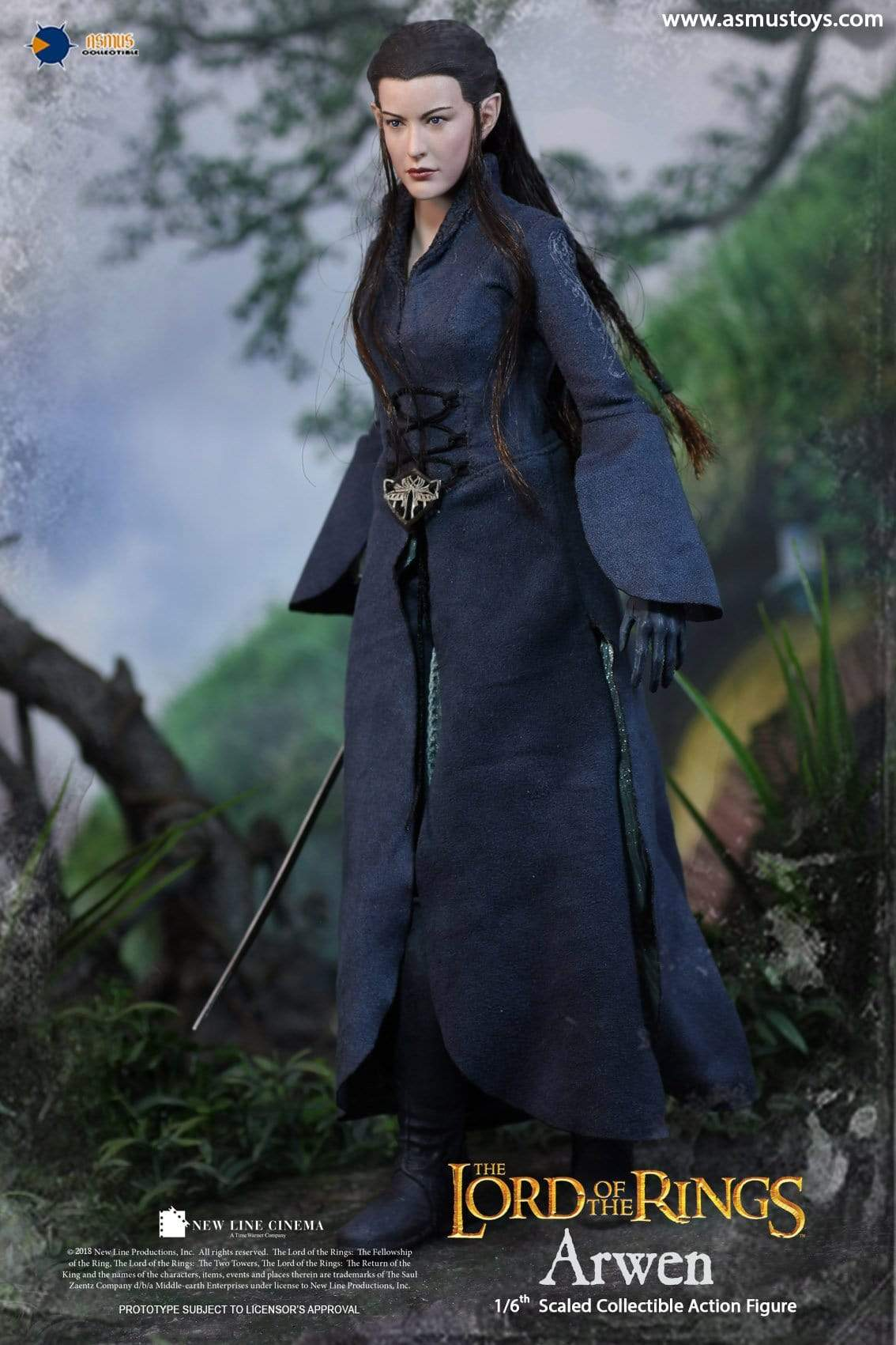 Asmus Toys LOTR021 The Lord of the Rings Series Arwen 1//6 Figure