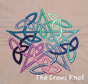 Blue Interwoven Pentacle Altar Cloth - The Crows Knot