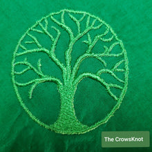 Load image into Gallery viewer, Green World Tree Altar Cloth -Small - The Crows Knot