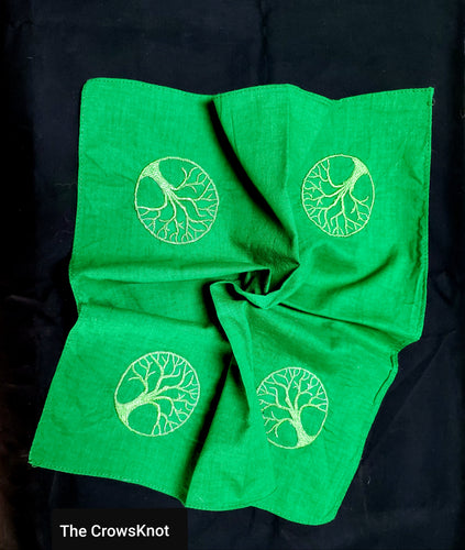 Green World Tree Altar Cloth -Small - The Crows Knot