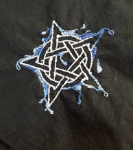 Load image into Gallery viewer, Hand Embroidered Elemental Pentacles - The Crows Knot