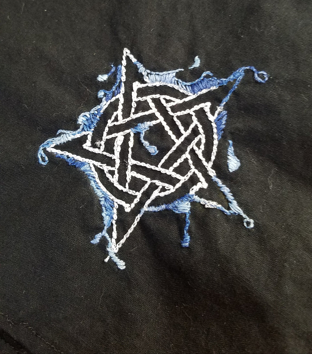 Hand Embroidered Elemental Pentacles - The Crows Knot