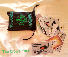 Load image into Gallery viewer, World Tree Celtic Knot Tarot/Rune Bag - The Crows Knot
