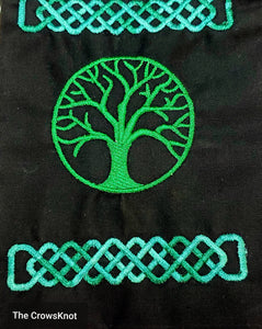 World Tree Celtic Knot Tarot/Rune Bag - The Crows Knot