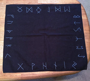 Elder Futhark Rune Altar Cloth - The Crows Knot