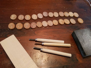 Hand-Carved Elder Futhark Runes - The Crows Knot