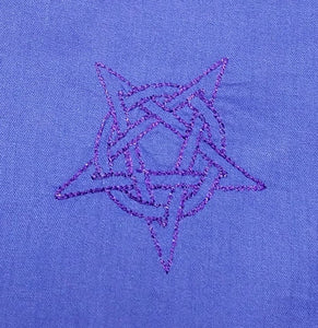 Purple/Blue Pentacle Altar Cloth - The Crows Knot
