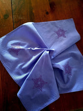 Load image into Gallery viewer, Purple/Blue Pentacle Altar Cloth - The Crows Knot