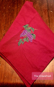 Embroidered Dionysus Wine Grapes Altar Cloth - The Crows Knot