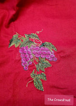 Load image into Gallery viewer, Embroidered Dionysus Wine Grapes Altar Cloth - The Crows Knot