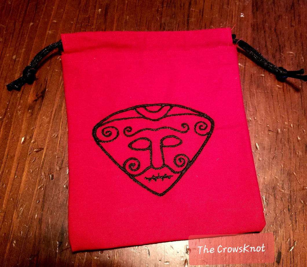Red Snaptun Loki Tarot/Rune Bag - The Crows Knot