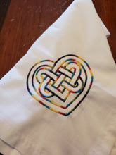 Load image into Gallery viewer, Rainbow Heart Knot Altar Cloth - The Crows Knot