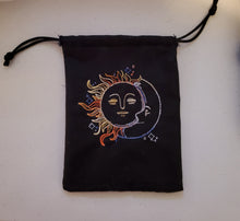 Load image into Gallery viewer, Vintage Sun & Moon Tarot Bag - The Crows Knot
