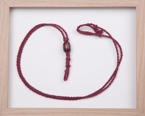 Burgundy Hemp Necklace