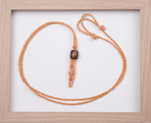 Cappuccino Hemp Necklace
