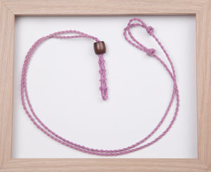 Dark Dusty Pink Hemp Necklace