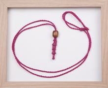 Load image into Gallery viewer, Dark Pink Hemp Necklace