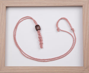 Light Dusty Pink Hemp Necklace