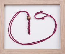 Load image into Gallery viewer, Magenta Hemp Necklace