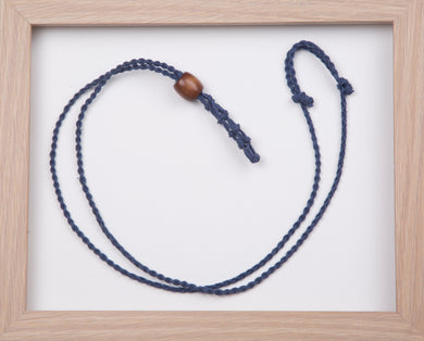 Navy Hemp Necklace