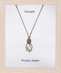 Olive Hemp Necklace
