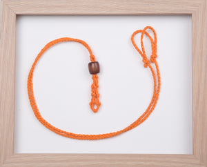 Orange Hemp Necklace