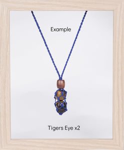 Royal Blue Hemp Necklace