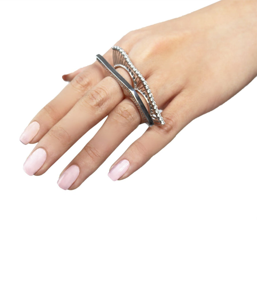 ARISSA X MOMO'S MARCH TIDES Knuckle Ring (Crystal)