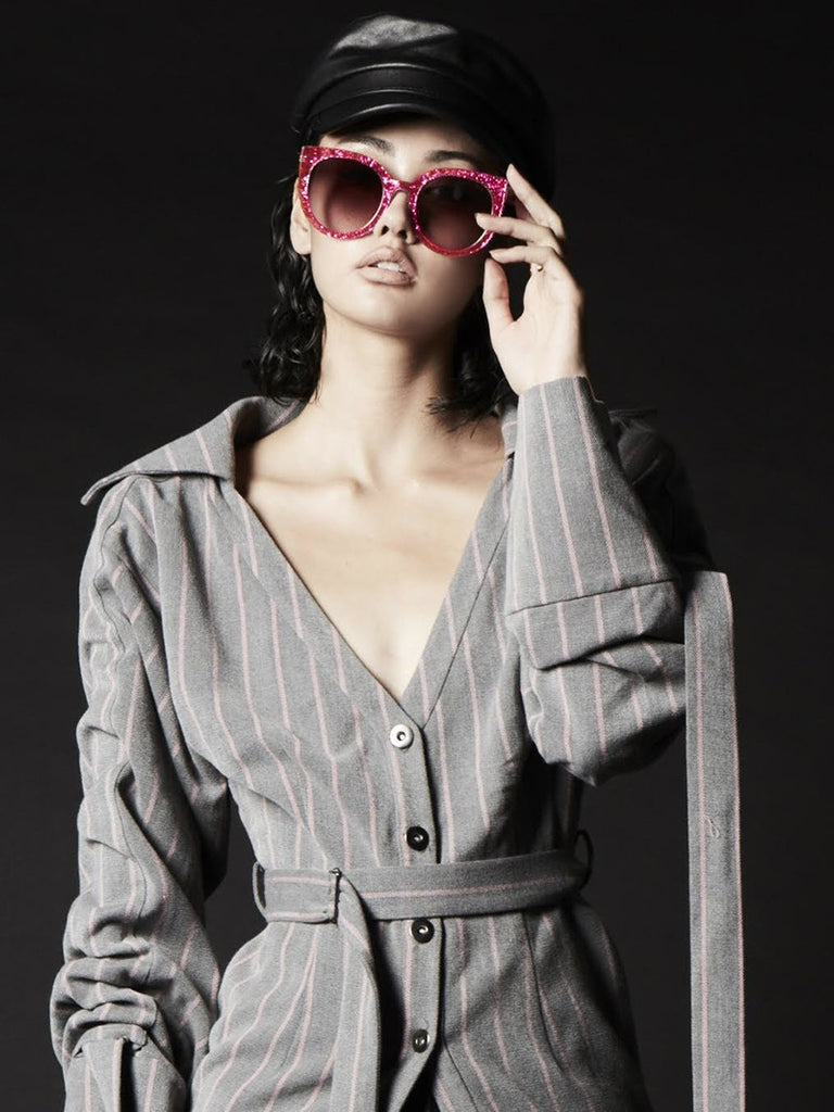 ARISSA X REVÉ by RENÉ STARRY-EYED Sunglasses (Pink)