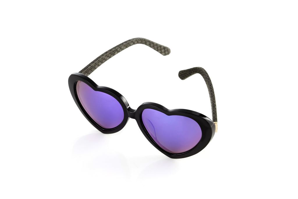 EYE HEART YOU Sunnies (Purple/Grey)